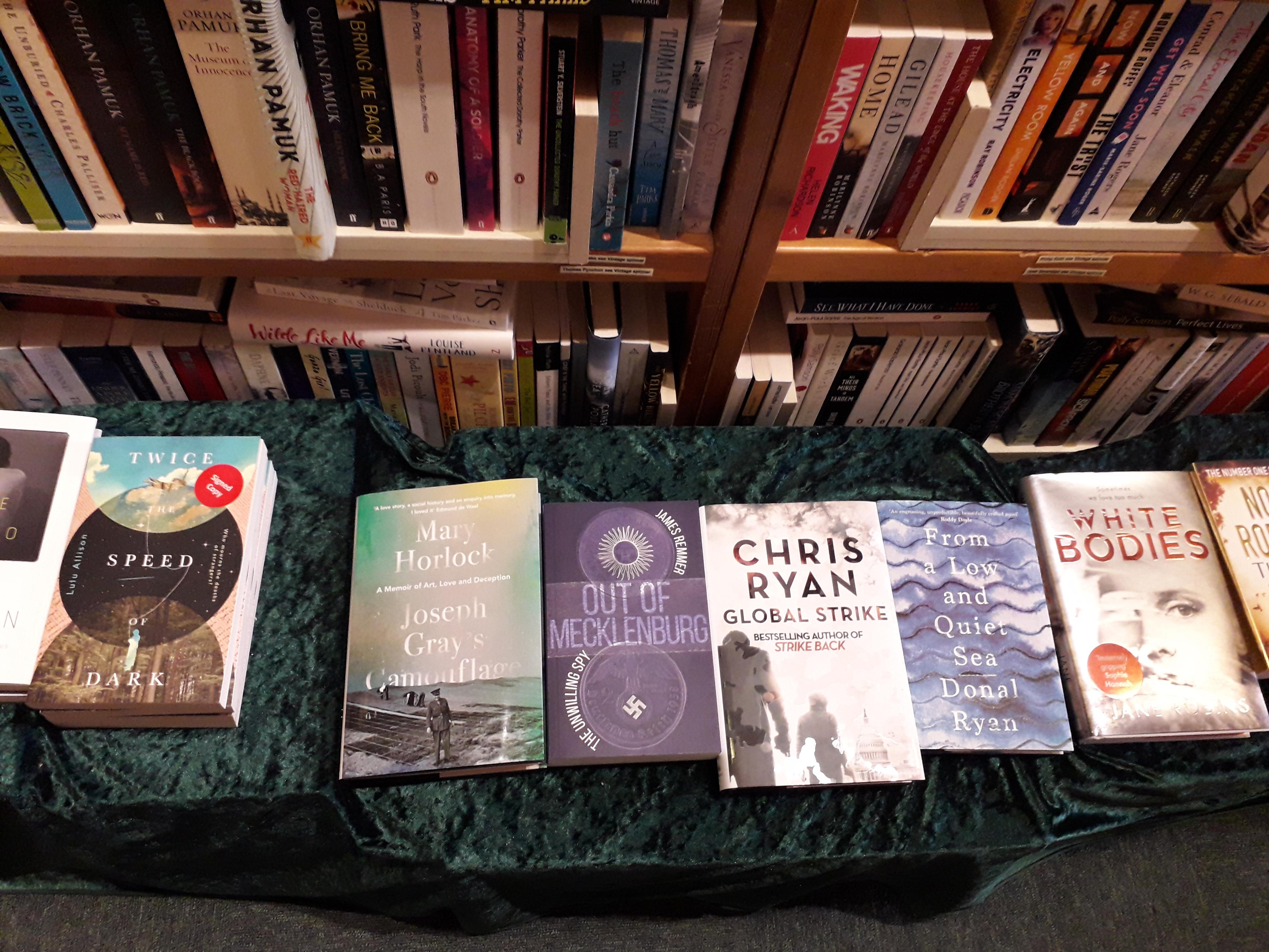 Out of Mecklenburg spy novel at City Books Hove