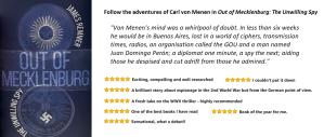 Reviews for spy novel Out of Mecklenburg